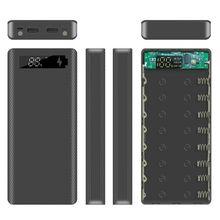 Display lcd diy 8x18650 caso de bateria power bank escudo caixa externa portátil sem bateria powerbank protector