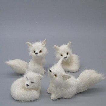 Año Nuevo, regalo del día de Año Nuevo, simulación de animal Zorro, artículos de decoración para el hogar, juguetes de animales de dibujos animados, regalo de zorro blanco