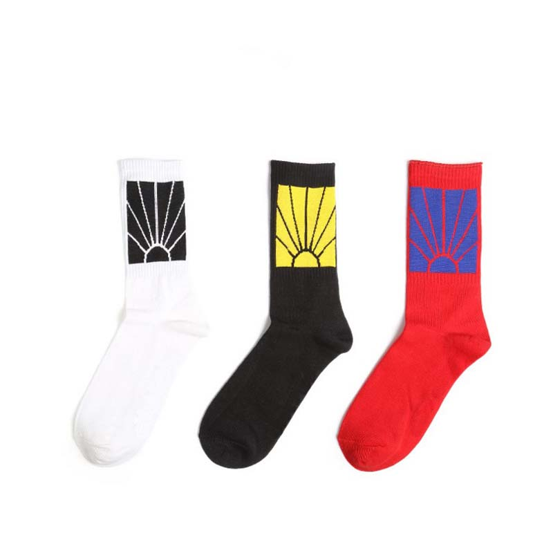 black white red Men and women spring atumn funny socks crew cotton Breathable Comfortable cute happy socks hot selling