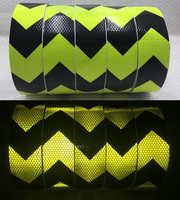 20Roll Wholesale Express Fluorescent yellow arrow Reflective Tape Reflective Safety Warning Tape for car