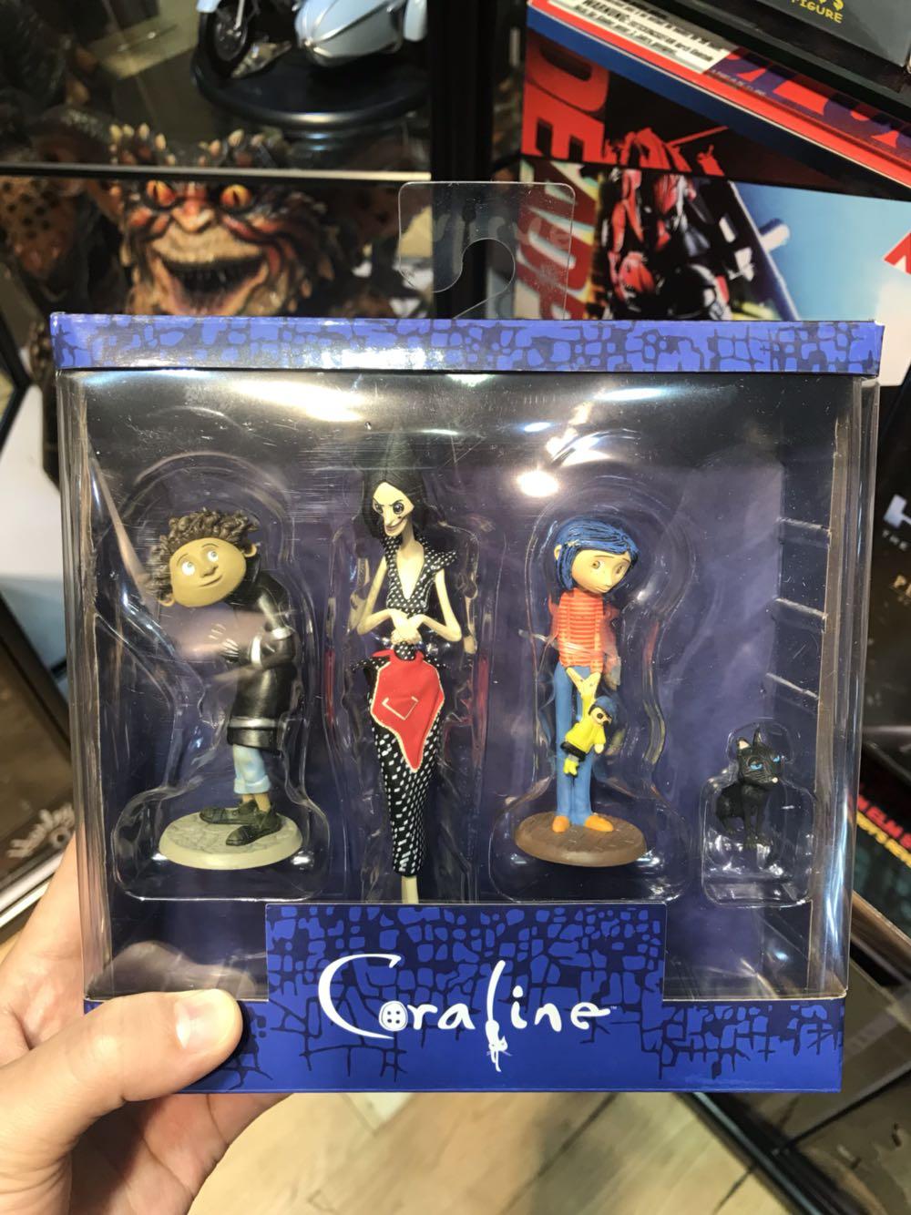 NECA kinderspeelgoed Coraline & het Geheim Deur poppen S figuur 3inch Standbeeld Caroline Meisje Verjaardagscadeau-in Actie- & Speelgoedfiguren van Speelgoed & Hobbies op  Groep 1
