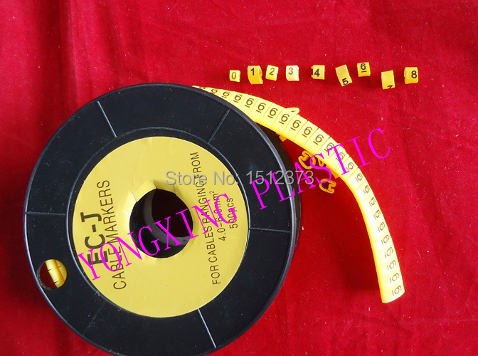 10roll/lot EC-J 4-6MM2 0-9 number each number 1 roll 500pcs/roll sitemap 275 xml