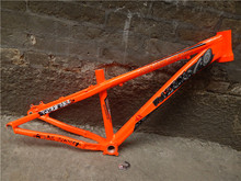 O envio gratuito de alumínio crianças mountain bike frame 26er 14 / 16 polegada crianças 26 mtb quadro para declive veículo com queda rápida