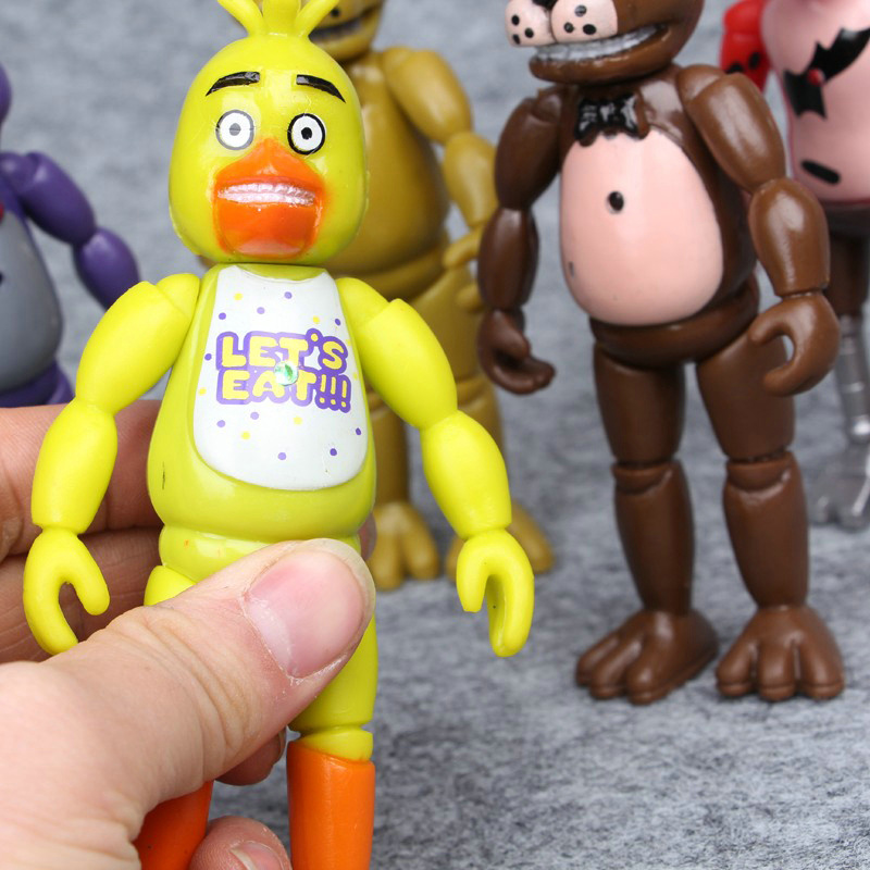 5 12pcs set Five Nights At Freddy s Foxy Chica Bonnie Freddy Action Figures Kid Toys