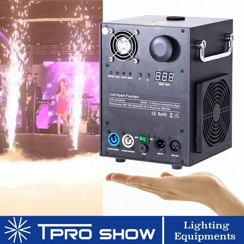 Image 3 - Mini Sparkular Indoor/Outdoor Weddings Dmx/Remote Control Fireworks Cold Spark Fountain Machine Smokeless Flight Case No Card-in Stage Lighting Effect from Lights & Lighting