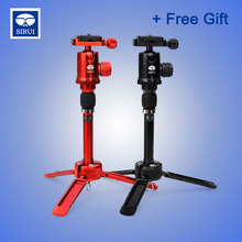 Sirui Mini Table Tripod Lightweight Portable For SLR Digital Camera Stand Desktop Tablet Tripod Ball Head For DSLR Travel 3T-35