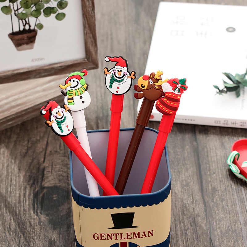1 cái 0.38MM Mới Giáng Sinh Loạt Sáng Tạo bút Gel đen đen bút học sinh dụng cụ tập viết Quà Giáng dễ thương Trẻ Em quà tặng Trang Trí
