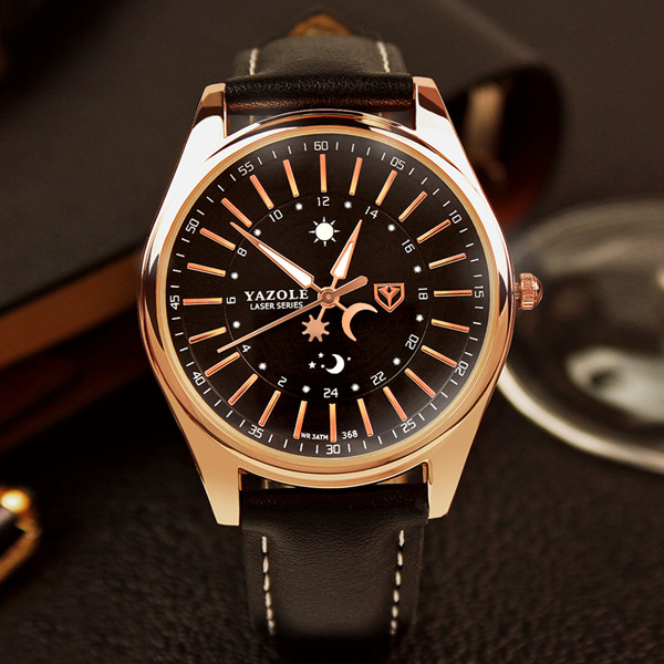 Yazole Men Watches 2017 Famous Male Clock Fashion Business Quartz Watch Men Gold Wristwatch Relogio Masculino hot sale brand men quartz watch famous fashion male clock rose gold watches men business wristwatch relogio masculino lz2048