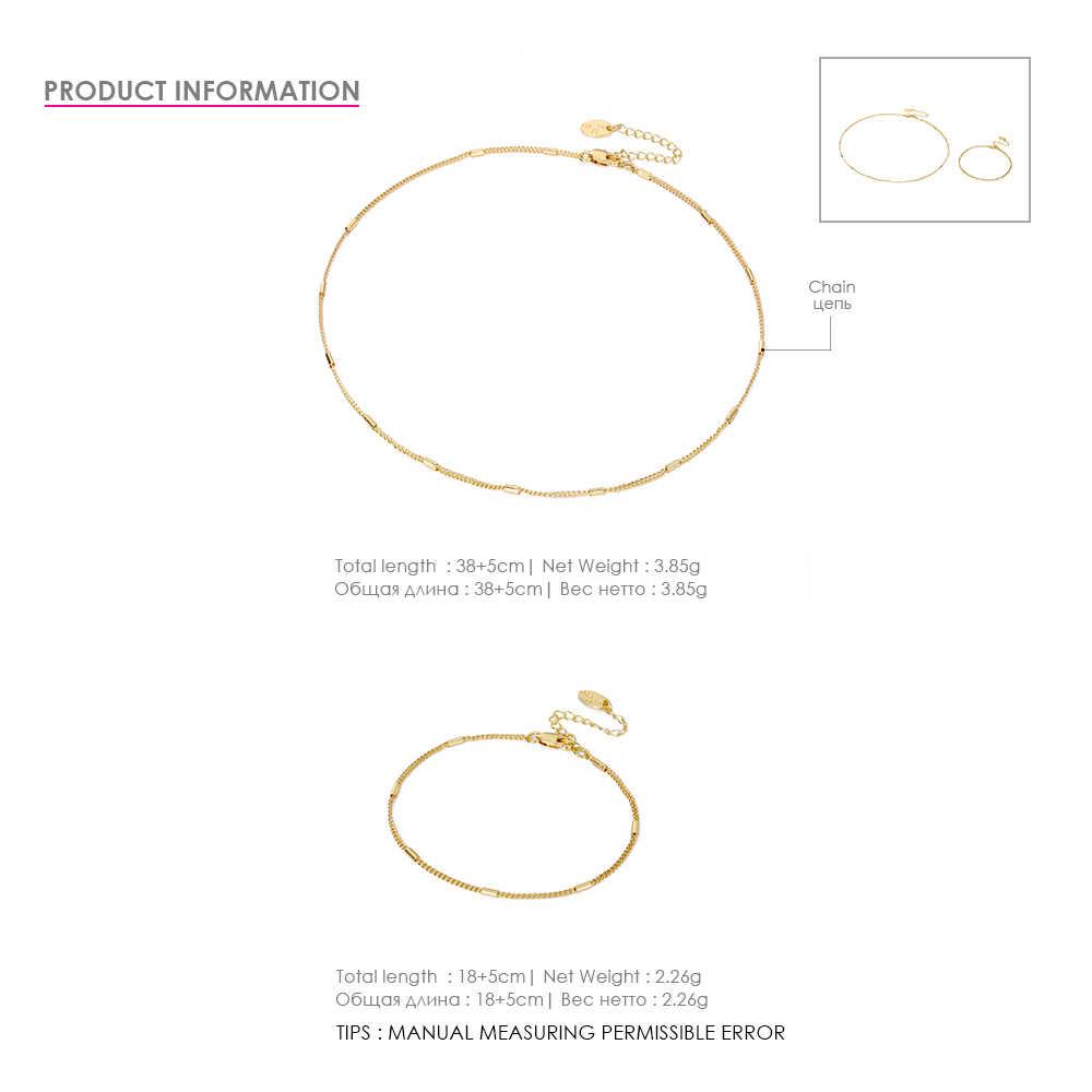 EManco ステンレス鋼のペンダントネックレスとブレスレットセット女性シンプルなゴールドカラーファッションジュエリー
