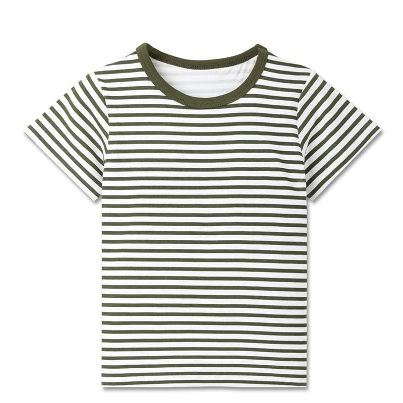 Детские летние футболки в полоску для мальчиков спортивные топы с короткими рукавами для маленьких мальчиков, футболки детская одежда для детей от 2 до 8 лет, новинка - Цвет: G