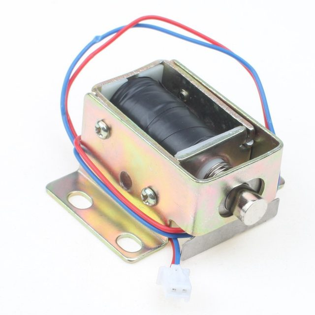 TFS A32 File Cabinet Door Electric Lock Assembly Solenoid DC 12V 0.6A  Cylindrical Latch