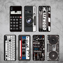 For Xiaomi Mi Redmi Pocophone F1 Note 5 6 7 8 9 lite Pro Plus Retro Vintage Camera Cassette Music Soft Phone Case(China)