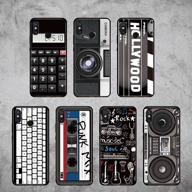 Para Xiaomi mi rojo mi Pocophone F1 Nota 5 5 5 6 6 7 8 9 lite Pro Retro Cámara Vintage Cassette funda de teléfono suave de música
