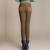 {Guoran} inverno das mulheres esticar calças de algodão casual Plus Size 4XL grosso do velo das senhoras patchwork preto calças lápis de cintura elástica