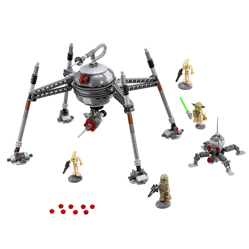 05025 LEPIN Star Wars 7 Homing Spider Droid Model Building Blocks Classic Enlighten Figure Toys For Children Compatible Legoe 05050 lepin star wars motorized walking at at model building blocks classic enlighten figure toys for children compatible legoe