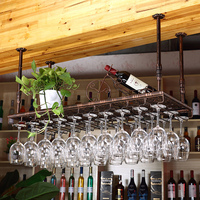 60cm*35cm Bar Wine Goblet Rack Fashion Wine Rack Glass Cup Holder Wall Hanging Wine Stemware Goblet Holder 2pcs/lot