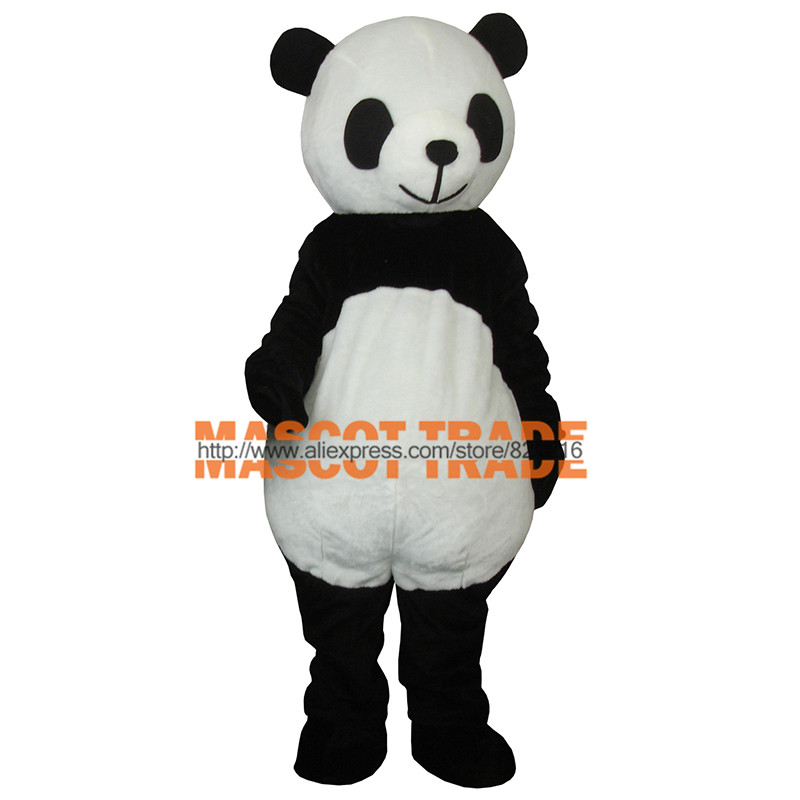 Cheap New wedding Panda Bear Mascot Costume Fancy Dress Adult Size  for Halloween party event