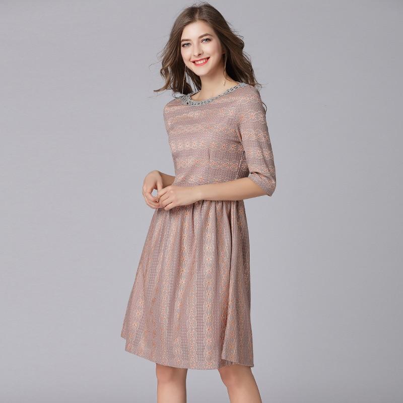 Dames Vintage Robes Taille La Surdimensionné Parti Robe Piste Soirée Plus De 2018 Élégantes Mode Printemps Femmes Club Été 6wUxg6p