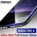 Meizu mx6 протектор экрана закаленное стекло полный крышка mofi оригинал meizu mx 6 защитное стекло фильм 9 H 2.5D премиум