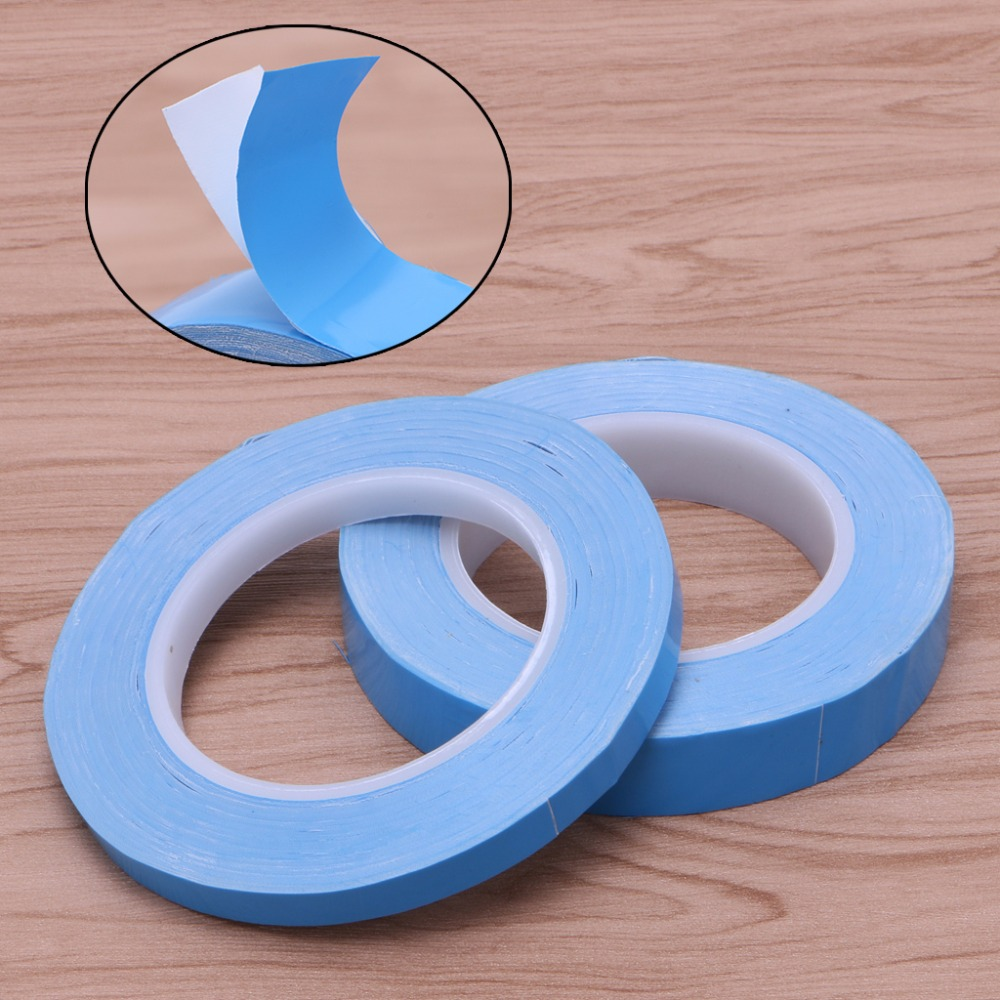 Adhesive Tape Double Side Transfer Heat Thermal Conduct For LED PCB Heatsink CPU MAY16_30 synthetic graphite cooling film paste 300mm 300mm 0 025mm high thermal conductivity heat sink flat cpu phone led memory router