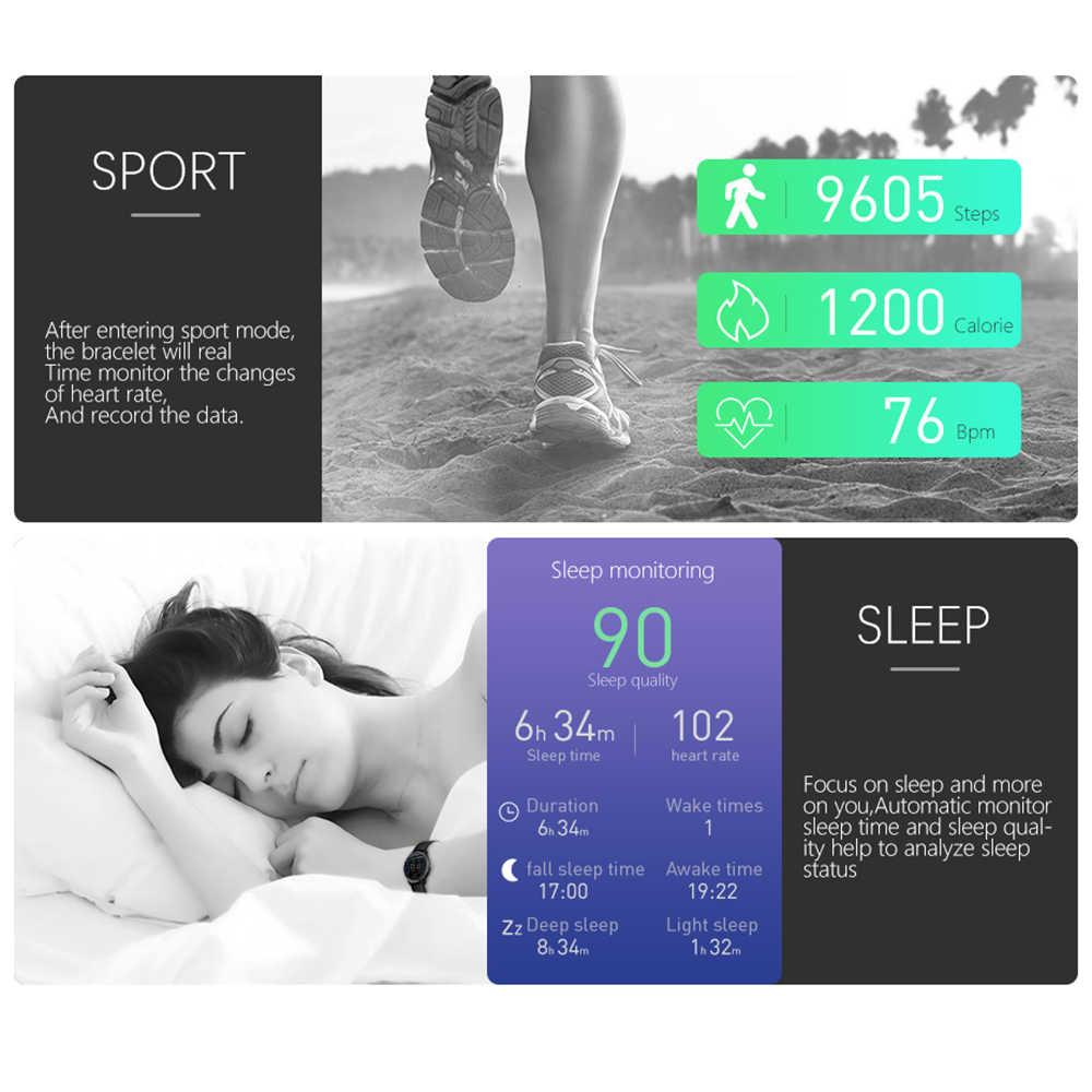 ساعة ذكية ECG إندستريز جهاز تعقب للياقة البدنية ووتش القلب معدل ضغط الدم ووتش القلب عرض لسامسونج Xiaomi
