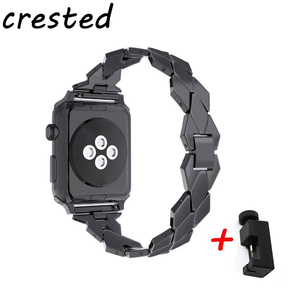 CRESTED edelstahl teel uhr strap für apple watch42mm/38mm iwatch serie 3/2/1 armband für alte kunden