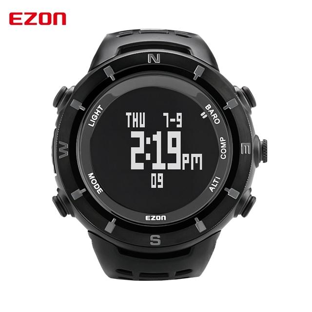 Esportes dos homens originais relógios ezon h001c01 relógio digital multifuncional escalada ao ar livre relógios altímetro barômetro bússola
