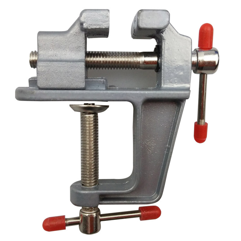 mini table diy tool aluminum bench vise flat-nose machine Vice clamp milling vise Craft Jewelry polishing Carving tools 35mm aluminum miniature small jewelers hobby clamp on table bench vise tool vice top quality tools dremel
