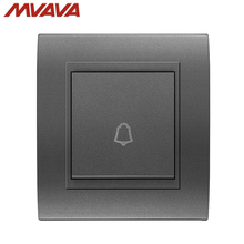 MVAVA Door Bell Wall Decorative Switch Hotel/Home Jingle Electrical Push Bottom UK/EU Standard Luxury Black Panel Free Shipping