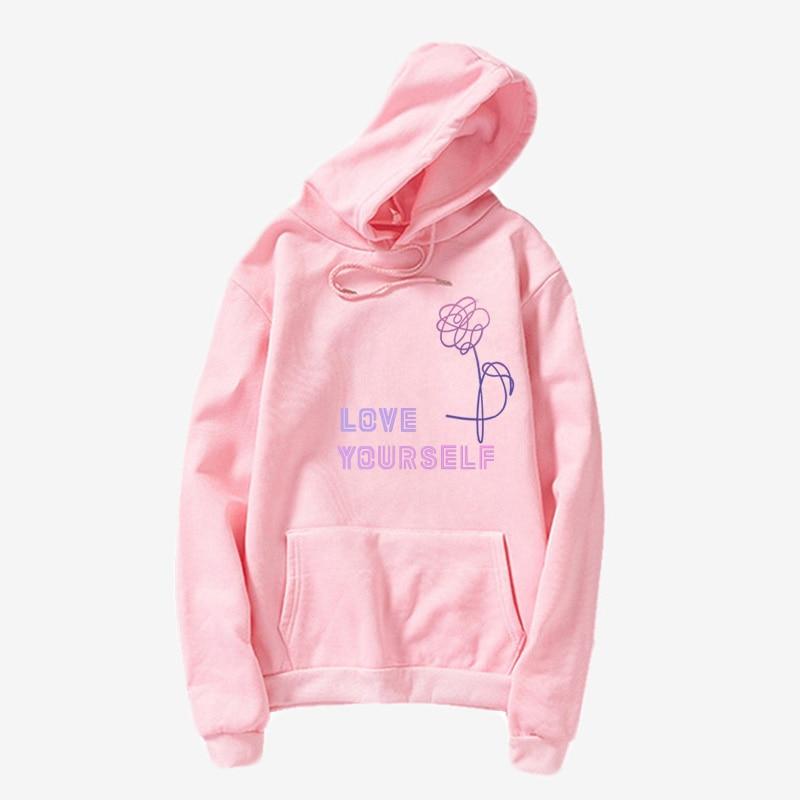 Love Yourself  Kpop Hoodies Enjoy Loving Your Own Kpop Ladies Hoodie! Bangtan Boy With Hat Sweatshirt Love Yourself Sweatshirt,