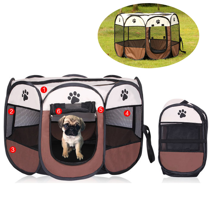 new portable folding pet tent play pen dog sleeping fence puppy kennel folding exercise play