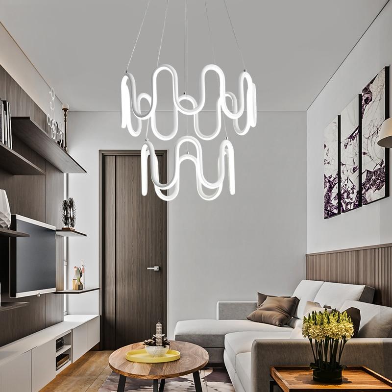 Здесь продается  NEW DIY Modern LED Pendant Lights For Dining Room Bar suspension luminaire Hanging Lighting Fixture AC85-265V decor pendant lamp  Свет и освещение