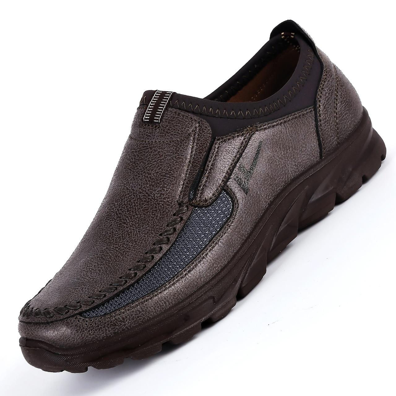 19 marque de luxe hommes chaussures décontractées léger respirant baskets mâle chaussures de marche mode maille Zapatillas chaussures grand Szie 48