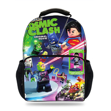 Cartoon DC Super Heroes Justice League printing Schoolbag for boys&Girls laptop Casual Kids Schoolbag Mochila Students backpack