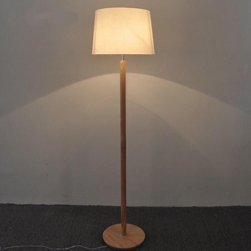 solide en bois nordique simple en bois massif pied lampe sur pied japonais salon chambre etude table lampes de chevet mz147