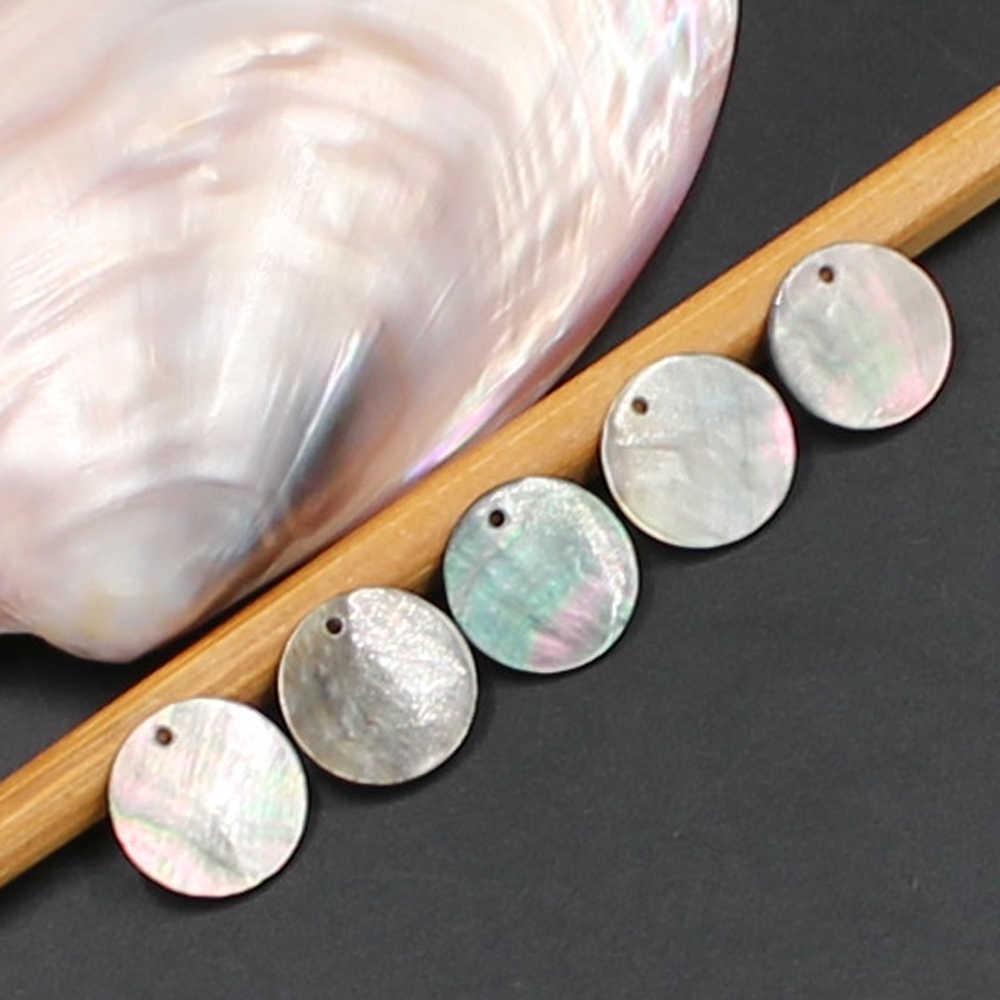 Kakee Madre di Perla Naturale Pendenti e Ciondoli Nero Mare Borsette Branelli Rotondi per la Produzione di Gioielli di Moda Orecchini Collane FAI DA TE Perline Materiale