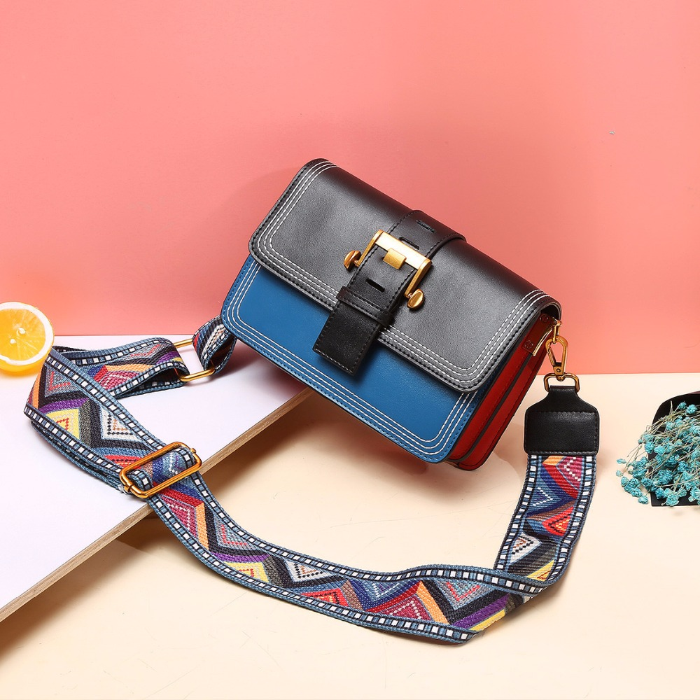 Fashion New Women Lady Genuine Leather Patchwork Cover Handbags Shoulder Bag Messenger Bags genuine leather women s shoulder bag fashion patchwork plaid women cross body bags colorful tote lady messenger bag