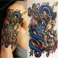 Homens à prova d' água Grandes Adesivos Tatuagem Temporária Braço Perna Transferência Falsa Tatuagem Do Dragão Leão Produtos Sexy Tatuagem Temporaria