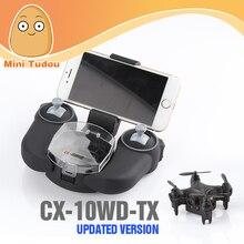 Cheerson 4ch rc mini drone con cámara 0.3mp cx-10wd cx-10wd-tx wifi fpv quadcopter rtf control alto modo de espera del teléfono