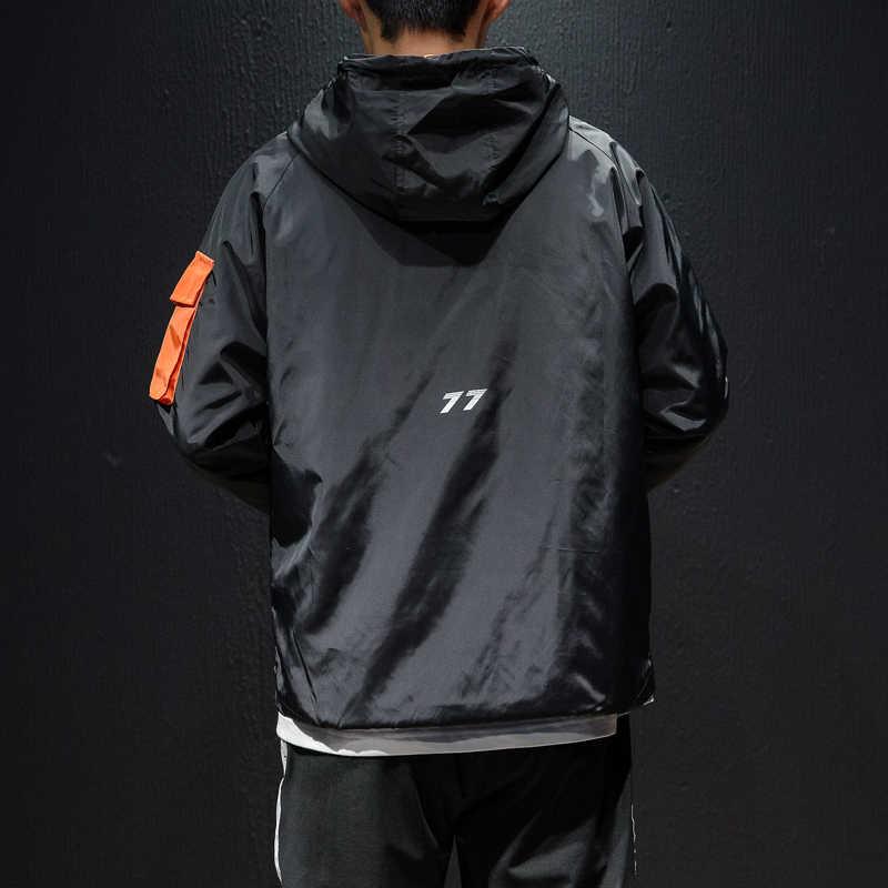 c8a79e2e26b ... Высокое качество Мужская Осенняя Куртка Плюс Размер повседневные куртки  с капюшоном мужские свободные передние карманные пиджаки ...