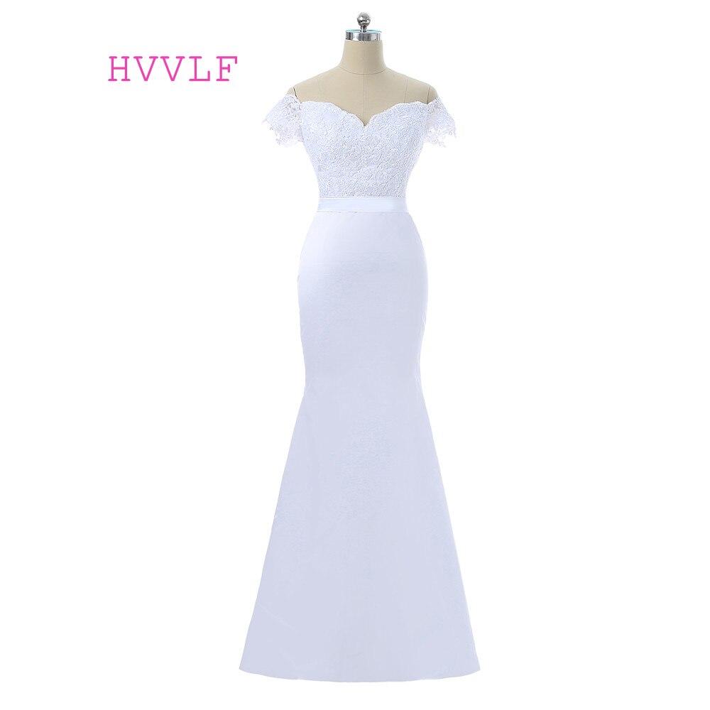 White Backless Lace Mermaid Wedding Dresses 2018 V Neck: White 2018 Cheap Bridesmaid Dresses Under 50 Mermaid V