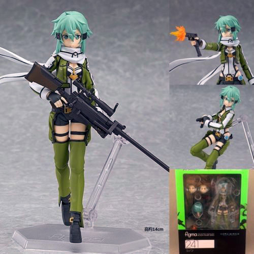 Sword Art Online SAO II 3 Asada Shinon Sinon AquaMarine Figure Figurine IN BOX touken ranbu online tsurumaru kuninaga 1 8 complete figure figurine 22cm