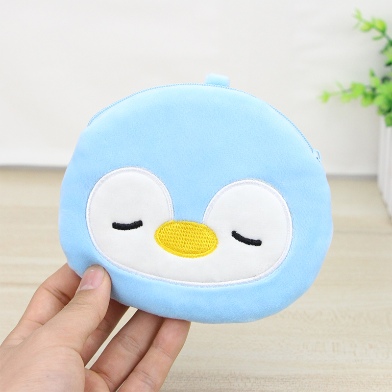 Katuner 2018 Animal Shape Coin Bag Women Mini Coin Purse Kids Cartoon Plush Cute Coin Bag Girls Wallet Porte Monnaie KB099