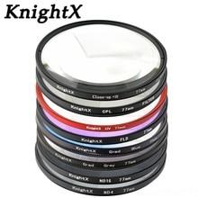 KnightX מאקרו מקרוב uv cpl כוכב מסנן עבור Sony ניקון Canon EOS DSLR d5200 d3300 d3100 d5100 nd gopro עדשת עדשות 52 58 67 mm
