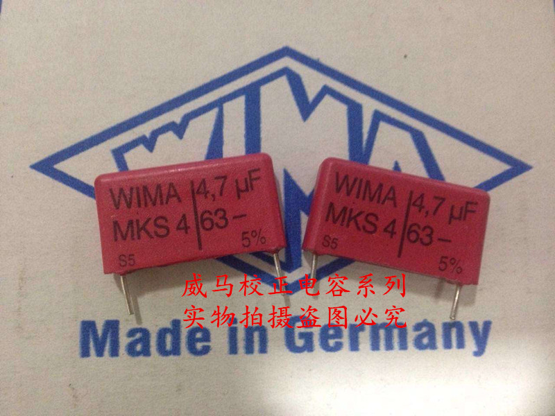 2019 hot sale 10pcs/20pcs German capacitor WIMA MKS4 63V 4.7UF 63V 475 4u7 P: 22.5mm Audio capacitor free shipping