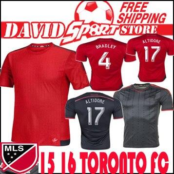 c3974469a Toronto FC 2016 Soccer Jersey Camisa MLS 15 16 Red Gray Major Football  Shirt GIOVINCO ALTIDORE