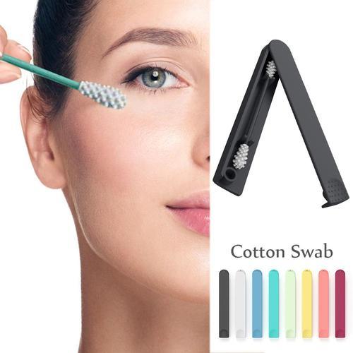 Reusable Cotton Swab Creative Environmentally Friendly  Cosmetic Cotton Sticks Makeup Accessory Lahore