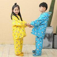 Cartoon Animal Rain Coat Pants Suit Poncho Girl S Boy S Raincoat For Children Kids Chubasquero