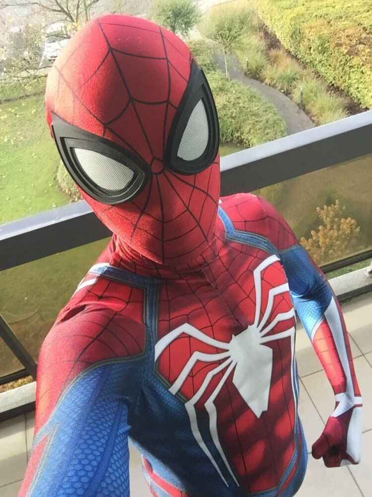 Jeu ps4 insomniaque spiderman costume Spandex Jeux Spidey Cosplay Halloween Spider-man Costumes Pour Adultes/Enfants