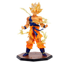 De Sol Anime Figura Goku Brinquedo 18 cm Dragon Ball Z Super Saiyan Goku Brinquedos Partido Favor Super Saiyan PVC Collectible presentes Modelo de brinquedo(China)